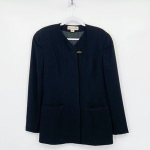 Christian Dior Vintage Black Jacket Blazer Pockets